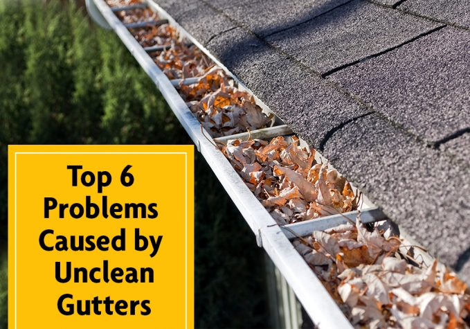 Top 6 Problems Caused By Unclean Gutters